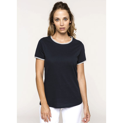Kariban Ladies´ Pique Knit Crew Neck T-shirt