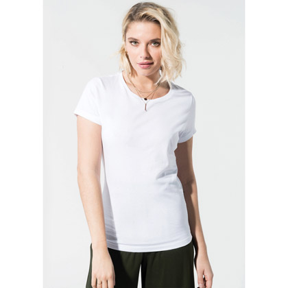 Kariban Ladies´ Organic Cotton Crew Neck T-shirt
