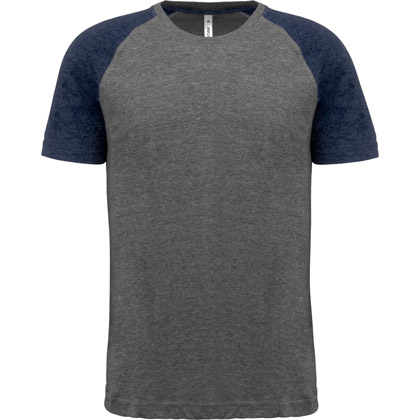 grey heather/ sport navy heather