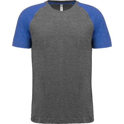 grey heather/ sport royal blue