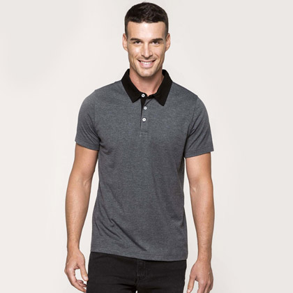 Kariban Men´s Two-Tone Jersey Polo-Shirt