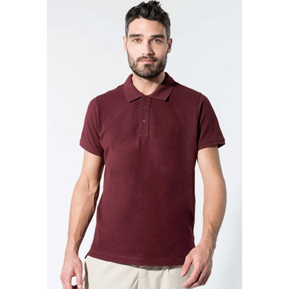 Kariban Men´s Organic Pique Short-Sleeved Polo-Shirt