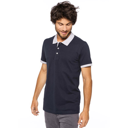 Kariban Men´s Two-tone Pique Polo-Shirt