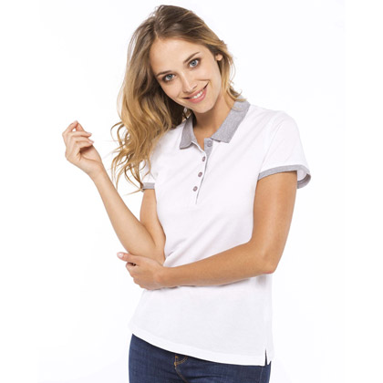 Kariban Ladies' Two-tone Pique Polo Shirt