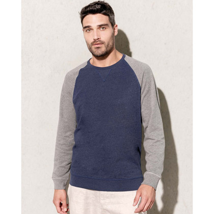 Kariban Men´s Two-Tone Organic Crew Neck Sweatshirt