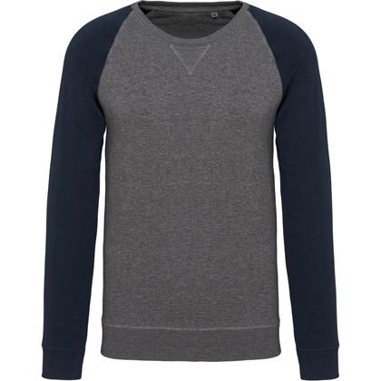 grey heather/ navy