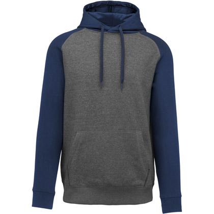 grey heather/ sport navy heather