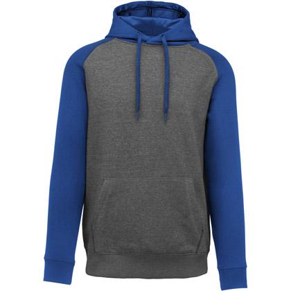 grey heather/ sport royal blue