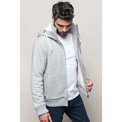 Kariban Vintage Sherpa-Lined Fleece Jacket