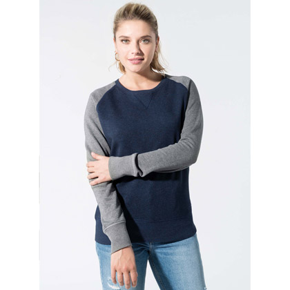 Kariban Ladies´ Two-Tone Organic Crew Neck Sweat