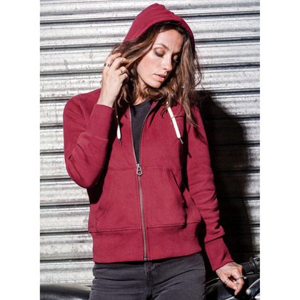 Kariban Ladies´ Vintage Zipped Hooded Sweat