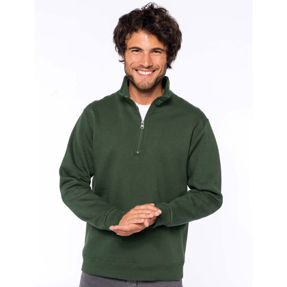 Kariban Zip Neck Sweat