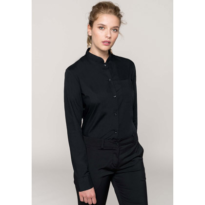 Kariban Ladies´ Mandarin Collar Shirt