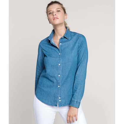 Kariban Ladies´ Chambray Shirt