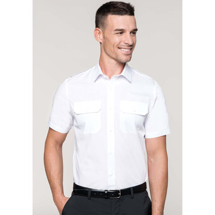 Kariban Men´s Short-Sleeved Pilot Shirt