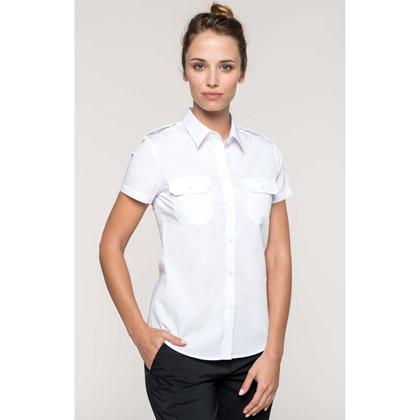 Kariban Ladies' Short-Sleeved Pilot Shirt