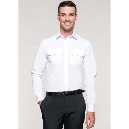 Kariban Men's Long-Sleeved Pilot Shirt