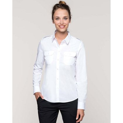 Kariban Ladies´ Long-Sleeved Pilot Shirt
