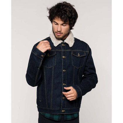 Kariban Men´s Sherpa-Lined Denim Jacket