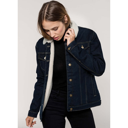 Kariban Ladies´ Sherpa-Lined Denim Jacket