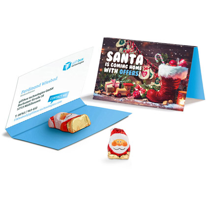 Weihnachtskarte Santa Claus