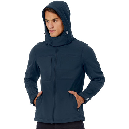 B&C Hooded Softshell Jacket Herren