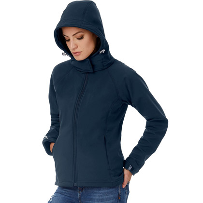 B&C Hooded Softshell Jacket Damen