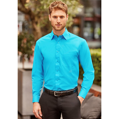 Russell Men´s Long Sleeve Polycotton Poplin Shirt 934M