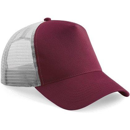 burgundy/ light grey