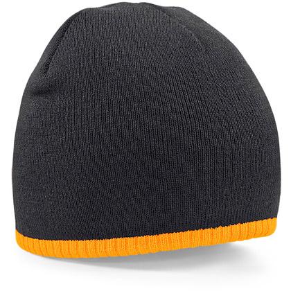 black/ fluorescent orange