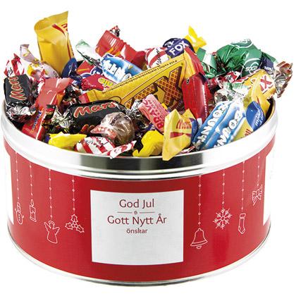 Bonbons Emballés dans une Boîte en Fer Blanc