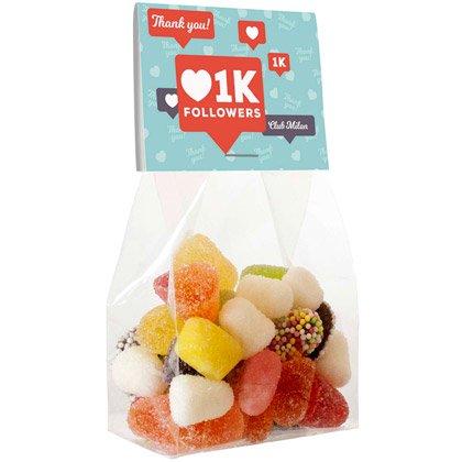 Süßigkeitentüte mit Karte, 50 Grammg