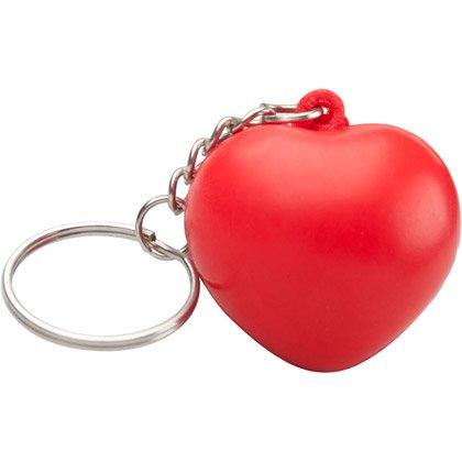 Stressboll Hjärta Nyckelring