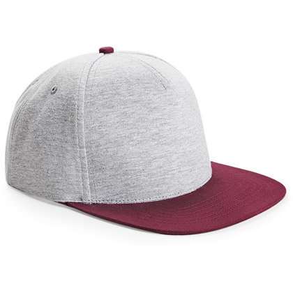 heather grey/ burgundy