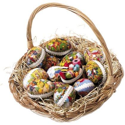 Cestino di Pasqua con Cioccolatini e Caramelle