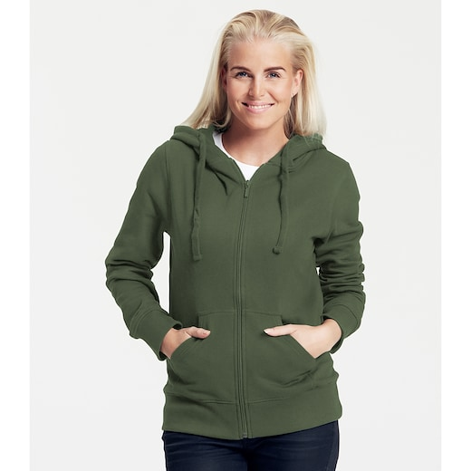 Neutral Ladies Zip Hoodie