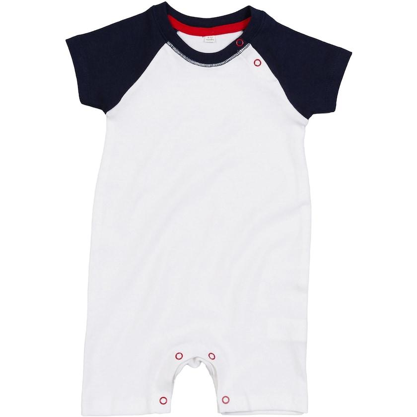 Babybugz Baby Baseball rompasuit-Combinaison à manches courtes One piece Combi-Unisexe