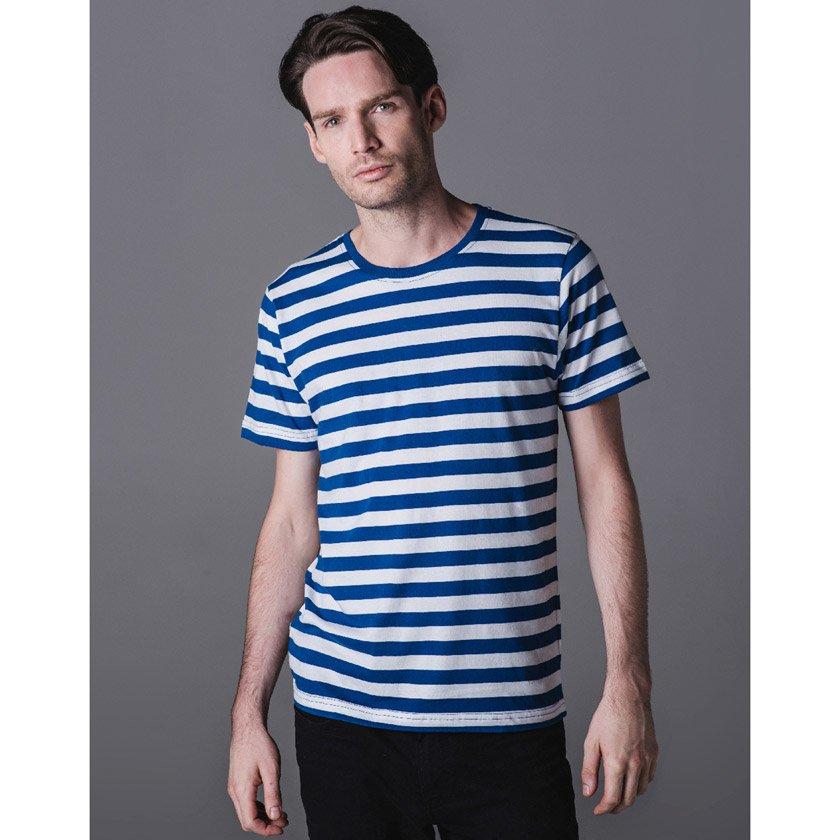Stripete T skjorter med Trykk Axon Profil
