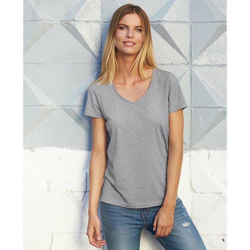 V ringad Dam T shirt med Viskos Profilkläder Axon Profil